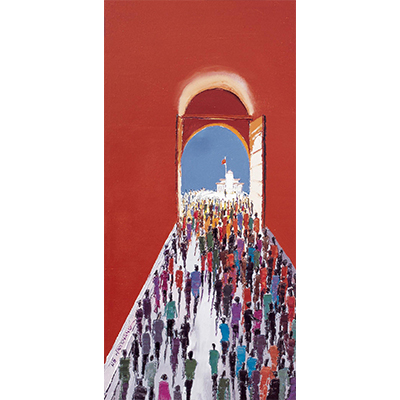 0001 2005年作 天安门广场 布面 油画