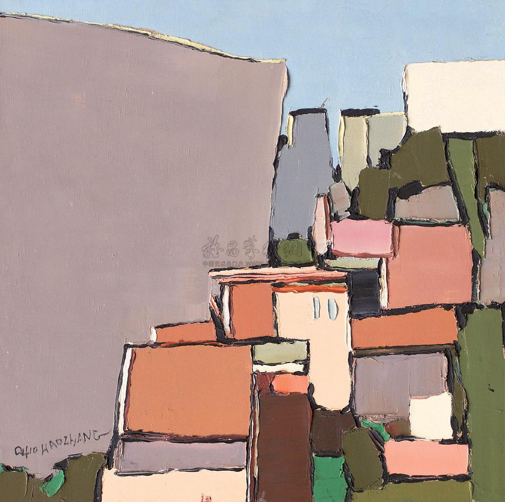 0091 风景  布面油画