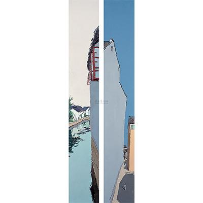 0120 2006年作 第十田园系列作品 (两幅) 布面 油画
