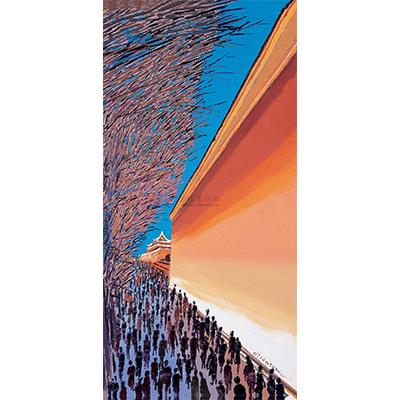 0068 2007年作 景观北京之19 布面 油画